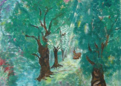 2004- biche en forêt